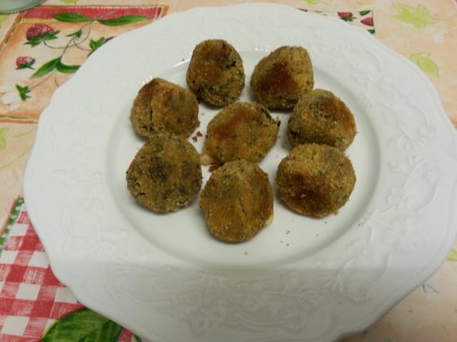 polpette di spinaci in padella