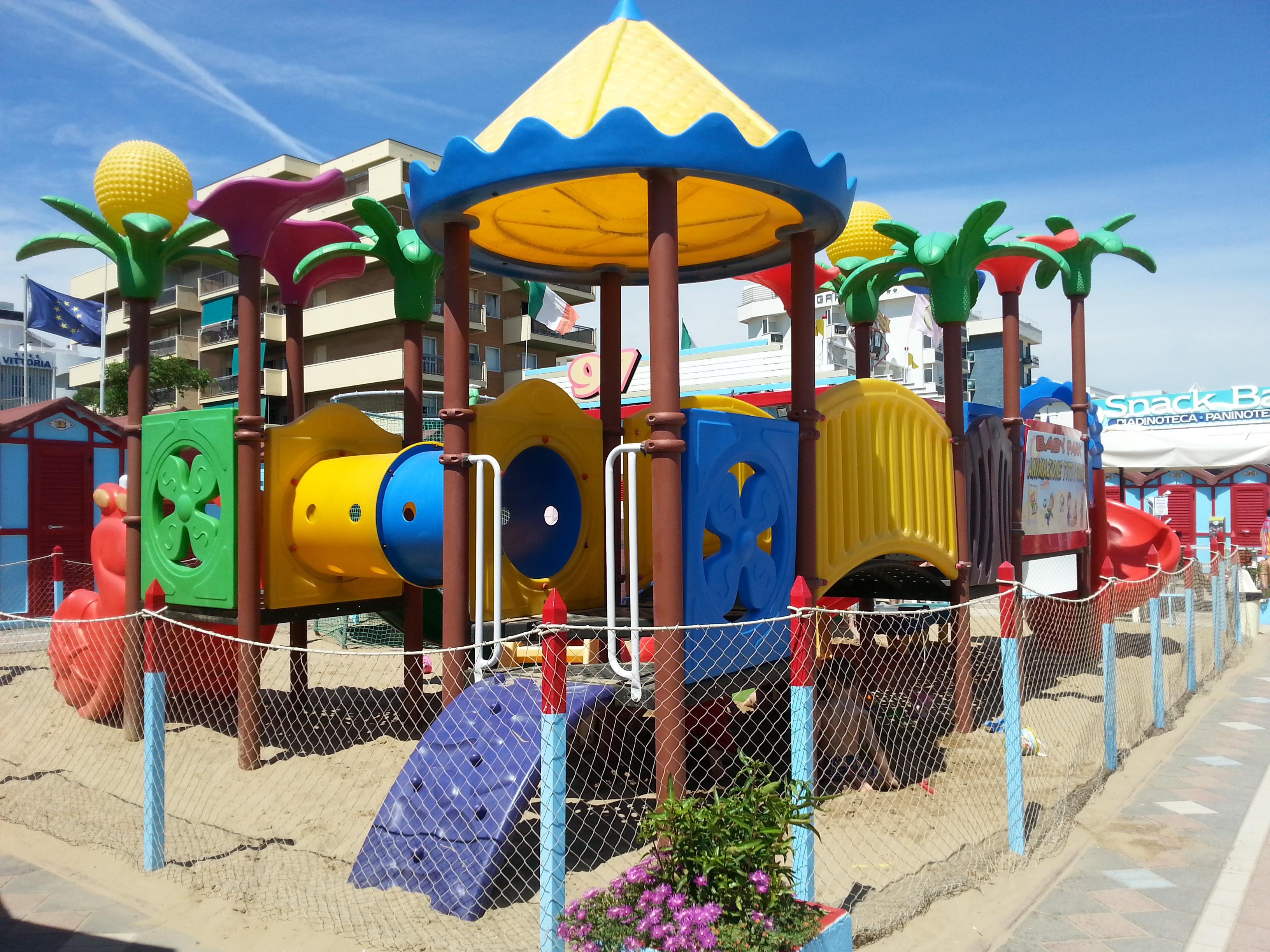stabilimento balneare di Riccione con i bambini