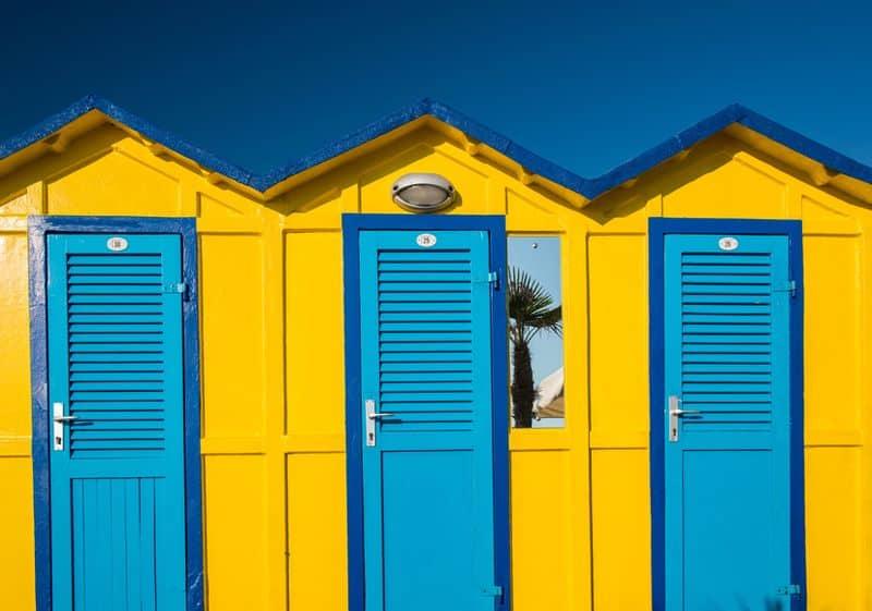 Riccione cabine in spiaggia