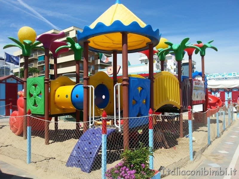 area giochi sulla spiaggia di Riccione