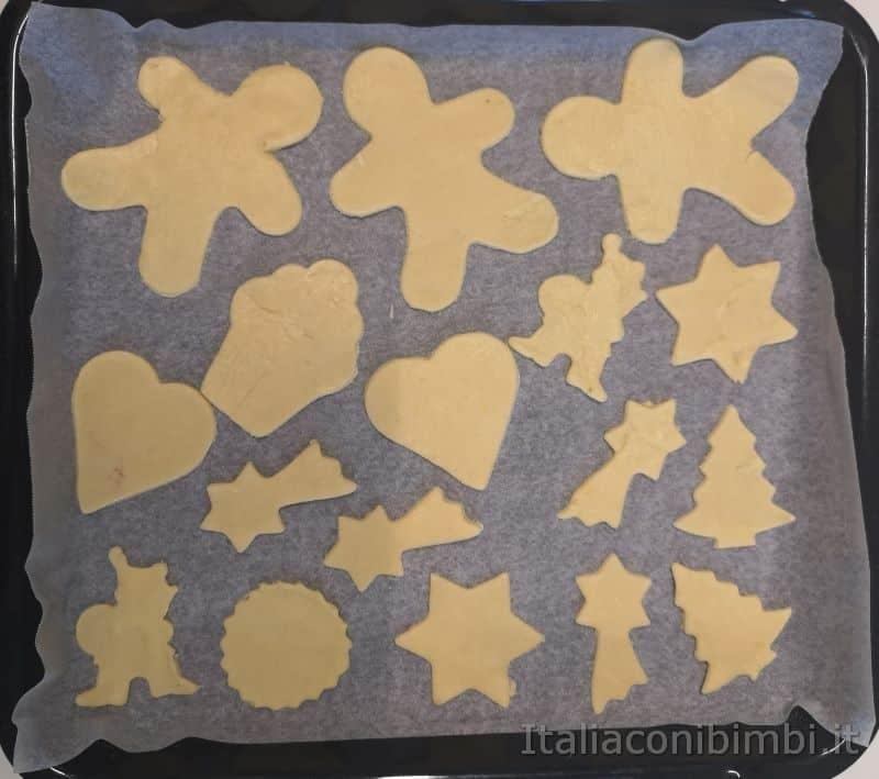 biscotti di pasta frolla crudi