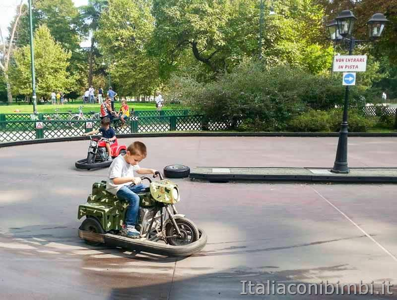 Milano - parco Sempione pista delle macchinine