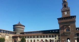 Castello Sforzesco di Milano con bambini