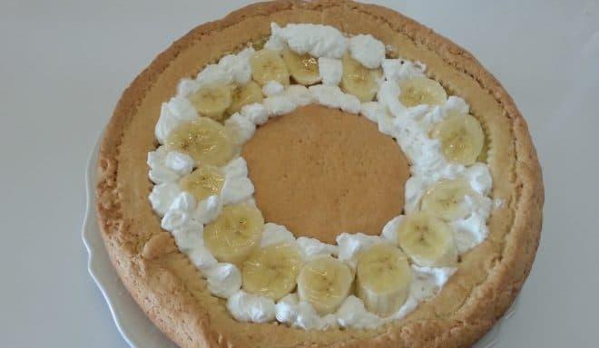 Crostata crema, banana e panna