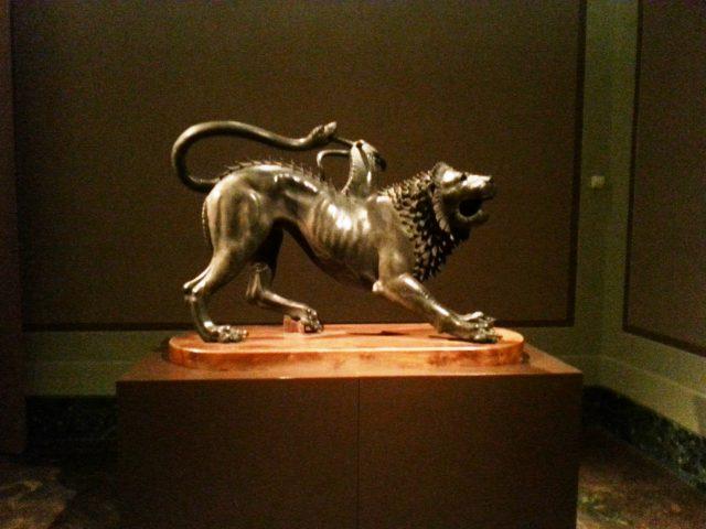 Chimera di Arezzo al Museo archeologico di Firenze