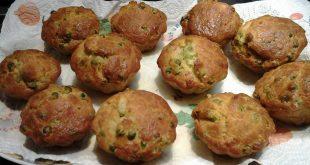 muffin salati con i piselli