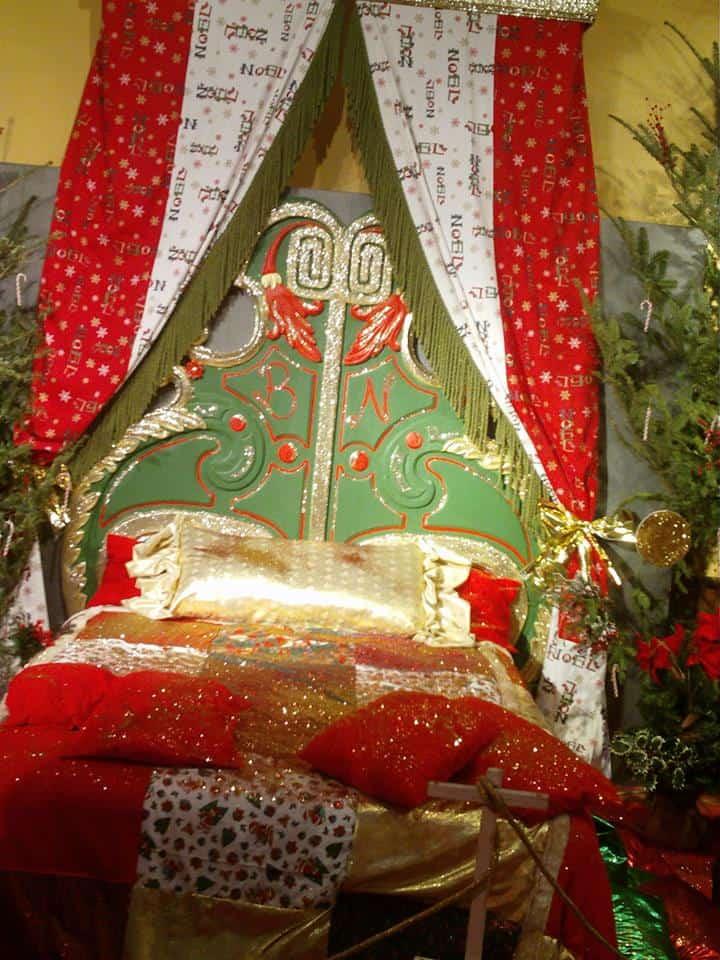 Il Letto di Babbo Natale nella sua casa Montecatini