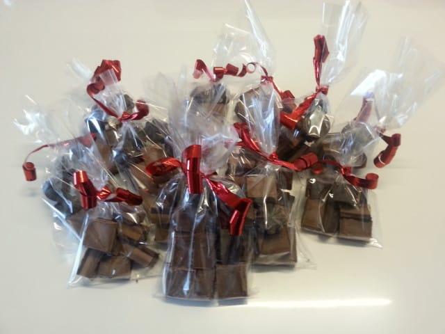 saccheti di cioccolatini cremini