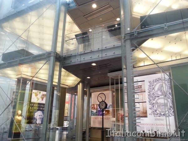 Museo della storia di Bologna scalinate centrali