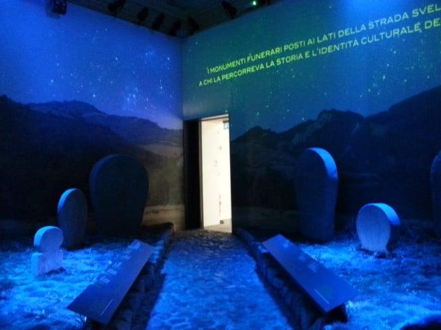 tombe etrusche al Museo della storia di Bologna