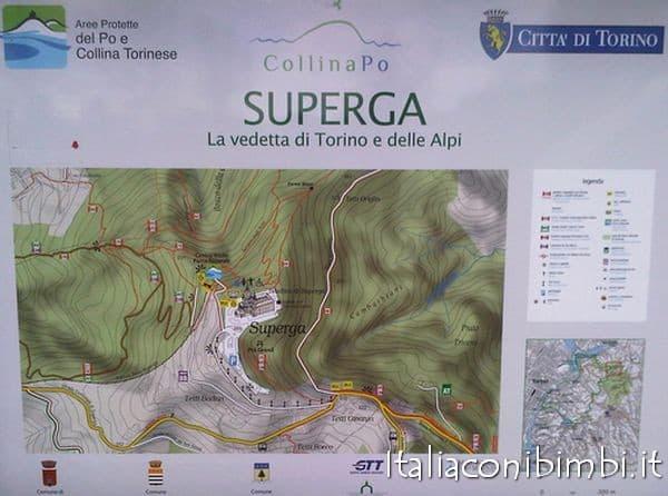 mappa colle Superga