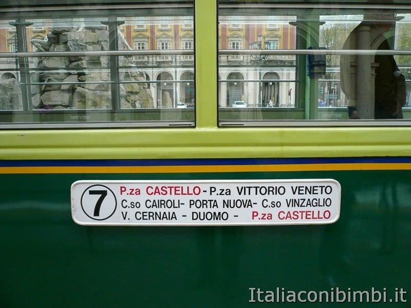 Torino - tram storico numero 7 percorso