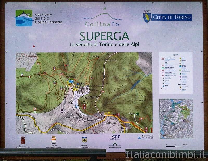 Torino - tranvia Sassi Superga mappa