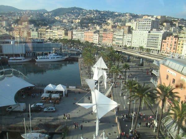 vista dall'ascensore Bigo a Genova