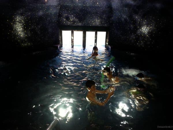 piscina blu Cavallino Bianco Ortisei