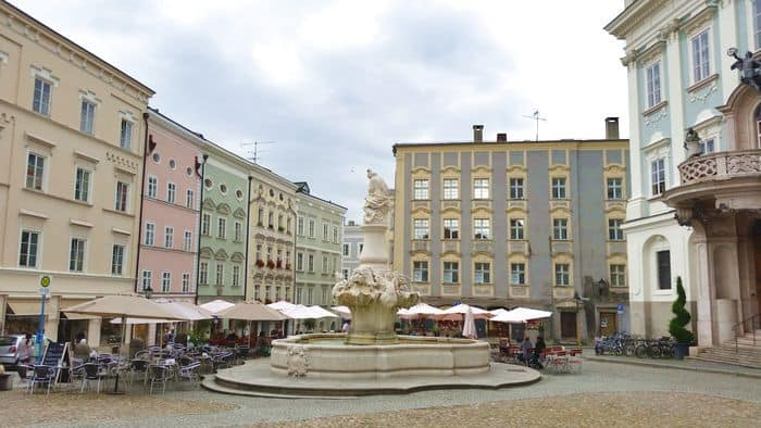 Passau da dove parte la ciclabile del Danubio