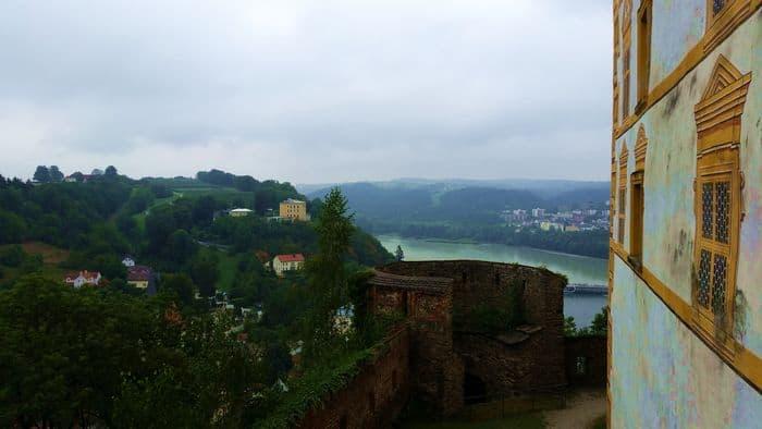 Vista su Passau dall'Oberhaus