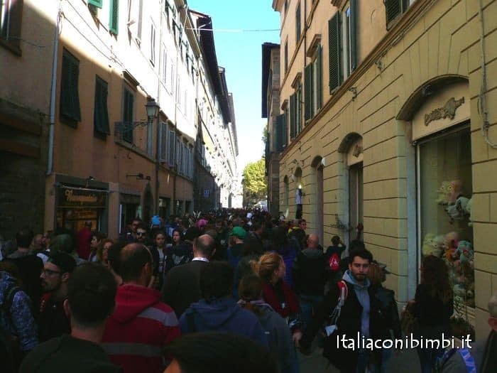 La folla di Lucca Comics and Games 2015