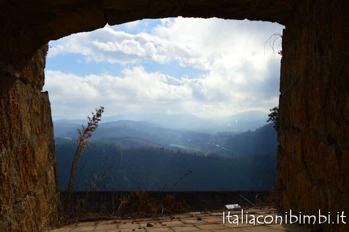 vista dalla fortezza di civitella del tronto