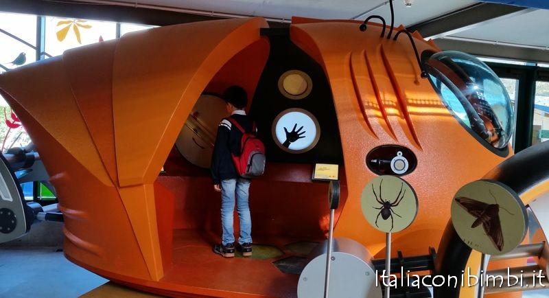 Il veicolo Niq ad Explora museo dei bambini di Roma