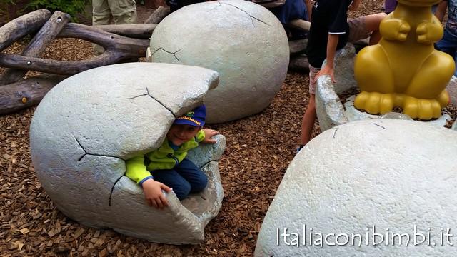dinosauri al parco Playmobil in Germania