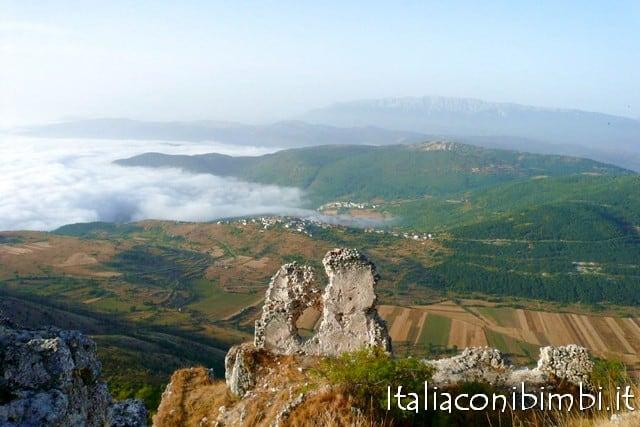 Veduta dalla Rocca Calascio in Abruzzo