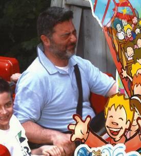 Paolo al parco di divertimento Mirabilandia