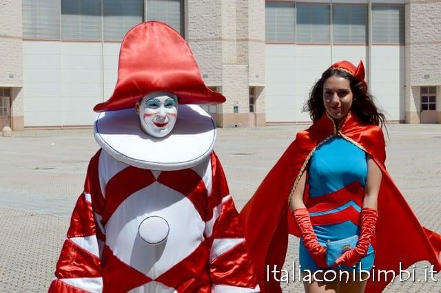 Burlamacco e Ondina mascotte del Carnevale di Viareggio