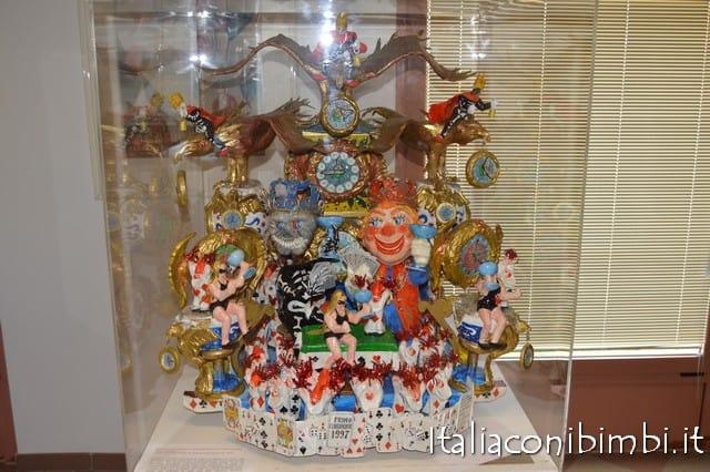 bozzetti al Museo dle Carnevale di Viareggio