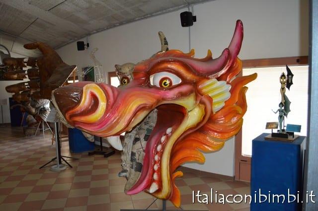 cartapesta al Museo del Carnevale di Viareggio