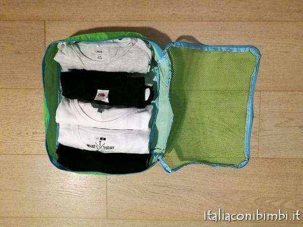 magliette come metterle in valigia