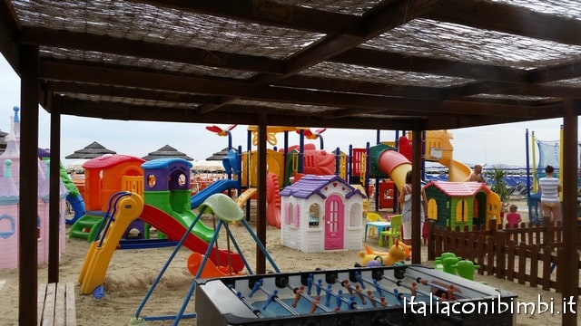 Spiaggia dell'Hotel Villa Saba di Bellaria Igea Marina