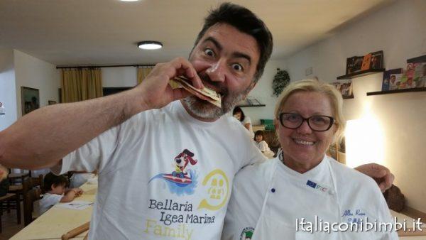 Corso di piadina con la Chefa Albarosa Zoffoli alla fattoria Belvedere di Bellaria Igea Marina