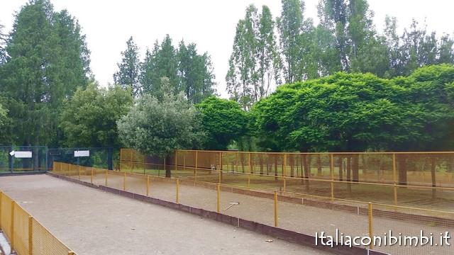 campo da bocce al parco Fucoli