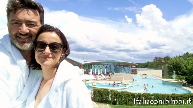 noi alle piscine termali Theia