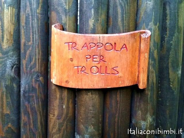 cartello al villaggio degli gnomi