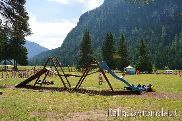 Parco giochi a Campitello di Fassa