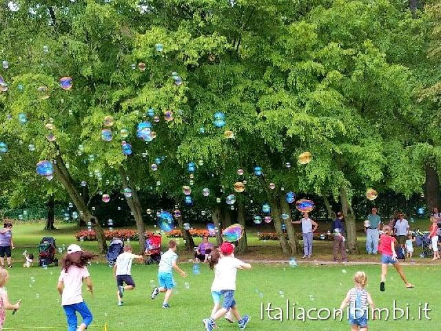 Parco Sigurta Mantova bolle di sapone