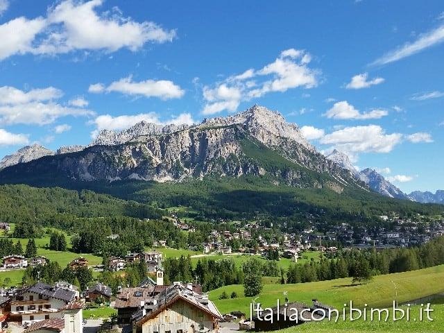 Vista su Cortina d'Ampezzo