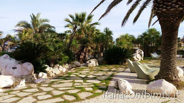 Area relax dei giardini tematici di San Benedetto del Tronto