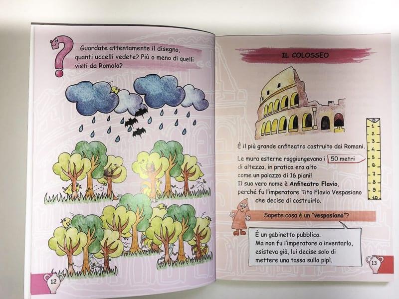 Guide per piccoli turisti - pagine sul Colosseo