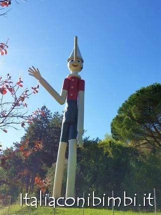 Pinocchio gigante al Parco di Pinocchio di Collodi