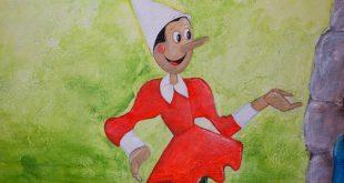 Disegno di Pinocchio all'ingresso del Parco di Pinocchio a Collodi