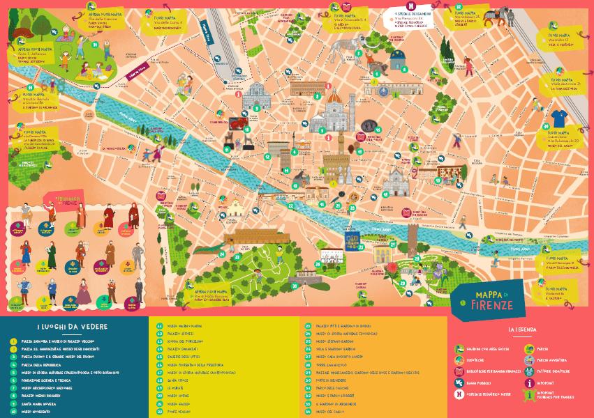 mappa di Firenze per bambini