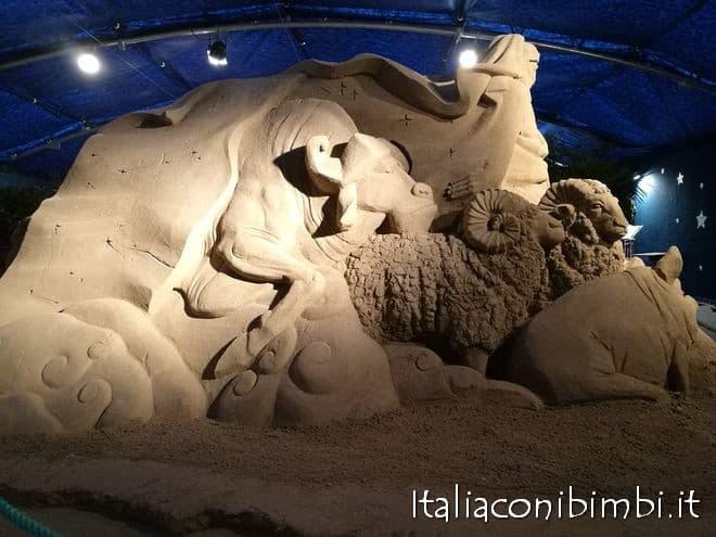 Arieti nel presepe di sabbia di Bellaria Igea Marina