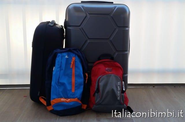 valigie e zaini per la partenza