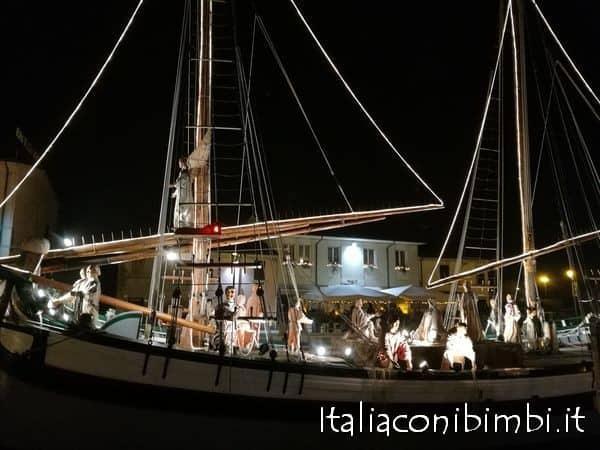 Presepe al Porto Canale di Cesenatico