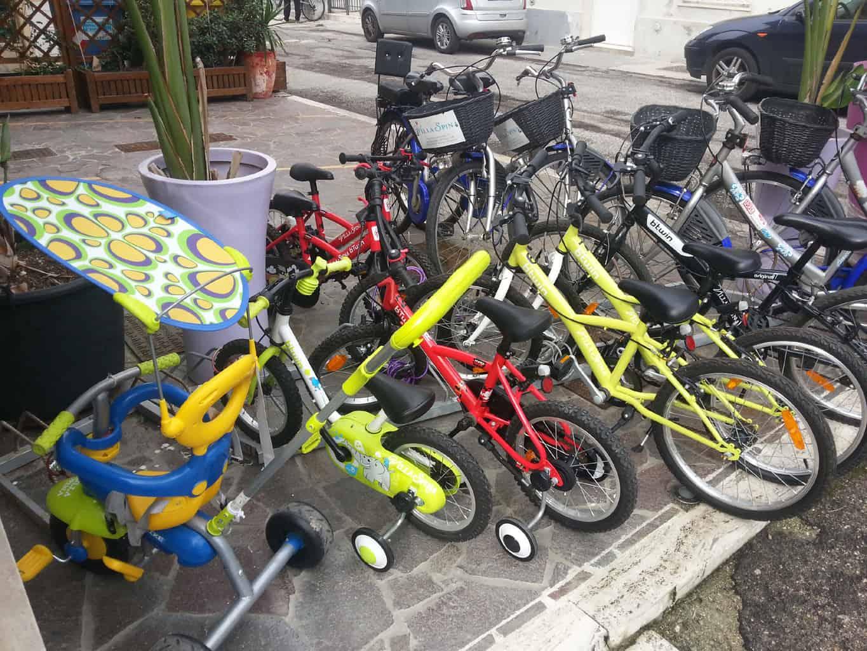biciclette della casa vacanze Villa Spina