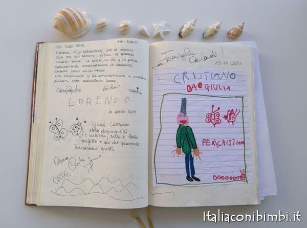 Libro degli ospiti della casa vacanze per famiglie Villa Spina