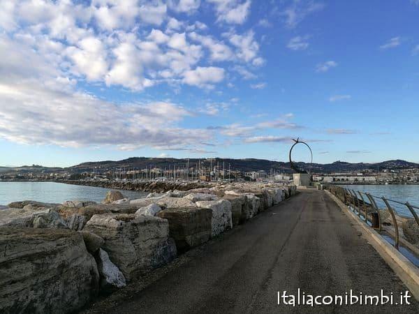 Passeggiata al molo sud di SanBenedetto del Tronto